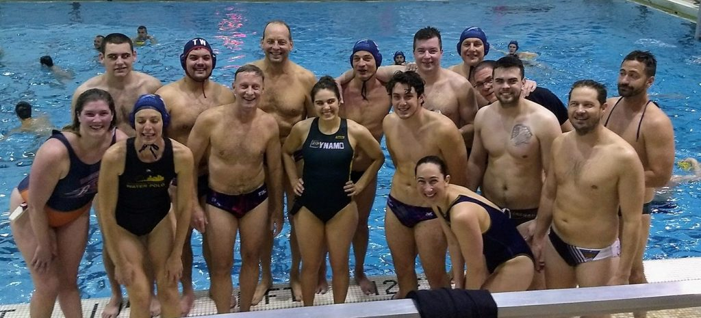 group photo of water polo players