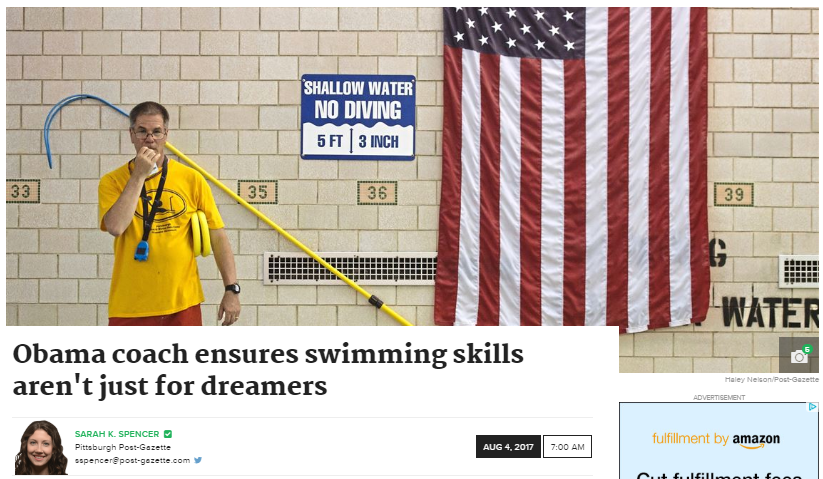 Coach Mark ensures swimming skills aren't just for dreamers.