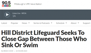 Hill District Lifeguard Seeks to Close Gap Between Those Who Sink or Swim