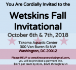Westskins Fall Invite, 2018, October 6 & 7