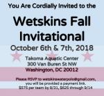 Westskins Fall Invite, 2018, October 6 & 7