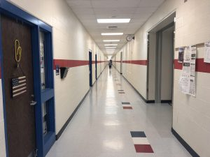 Hallway in the CV school.