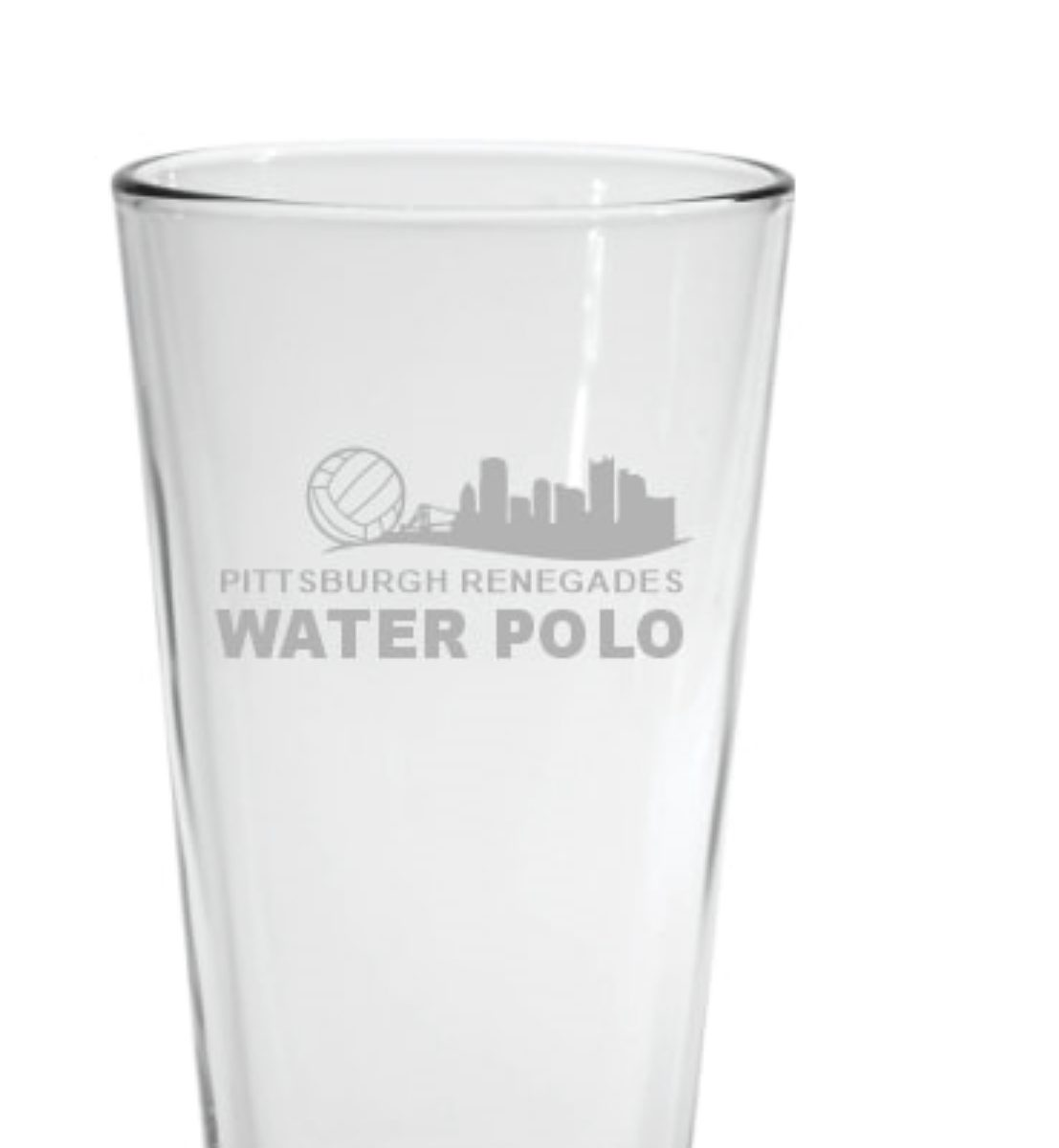 Glass w etched logo