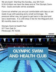 Swim pool w water polo
